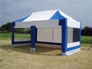 Instaframe 50 Tent 6m x 3m Blue and white