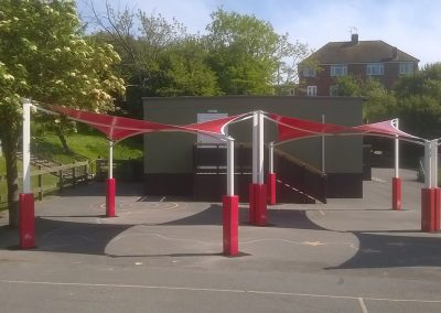 Rigid School static covered canopy tents for work