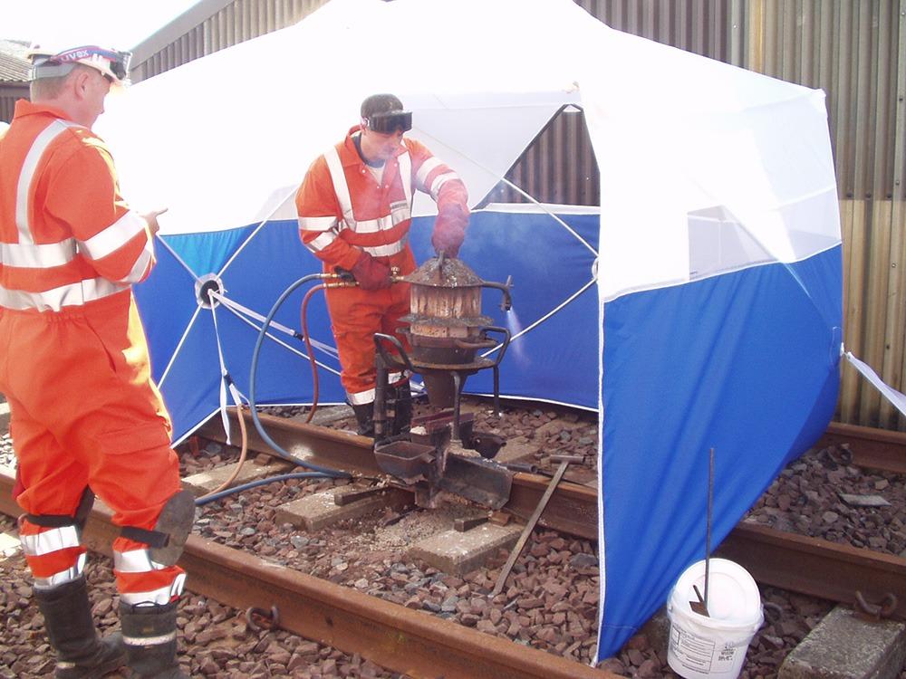 Work Tents - Welding Tents for Railway Workers