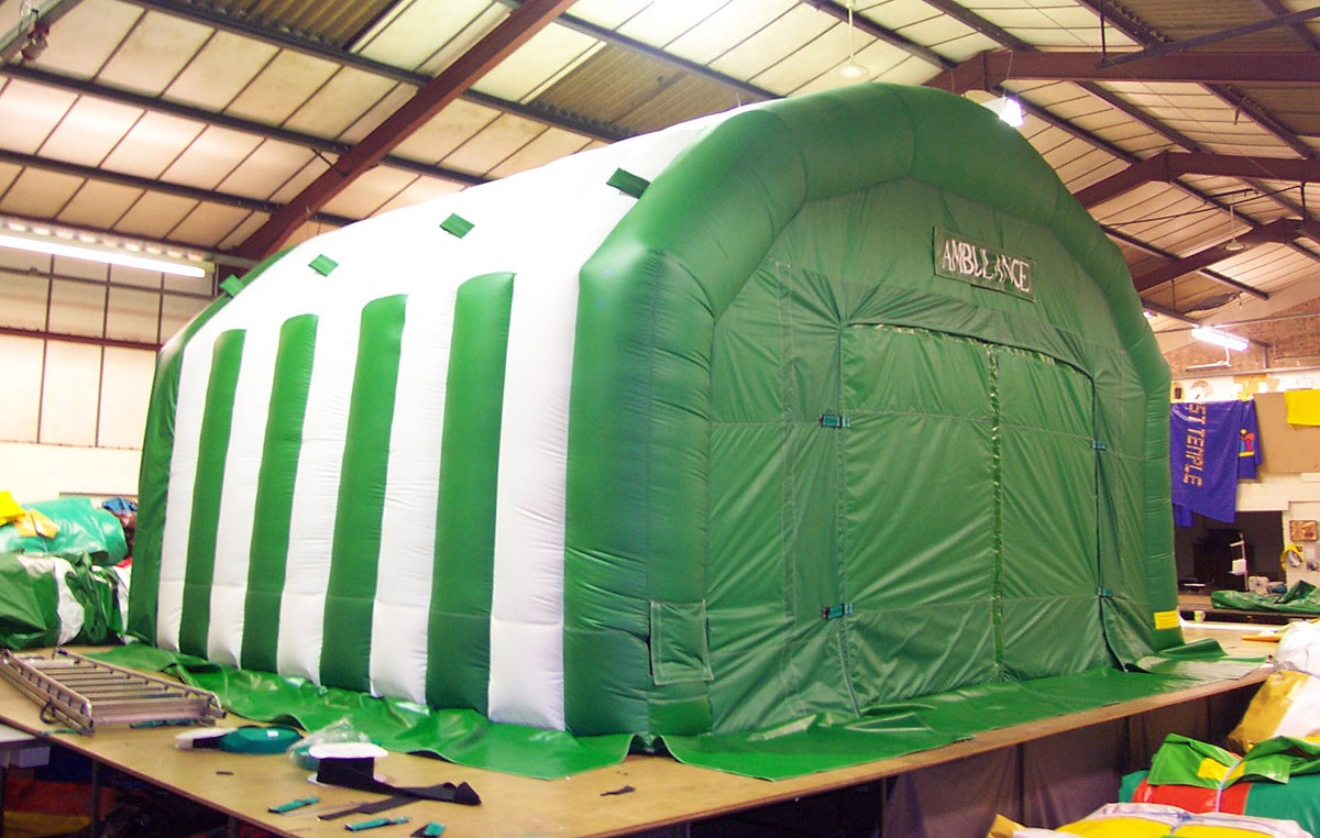 Inflatable Tents and Buildings for emergency services