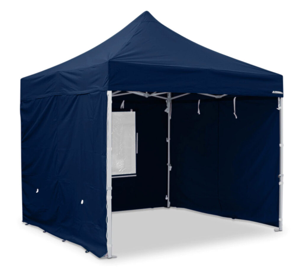 Blue canopy tent heavy duty with 4 sides